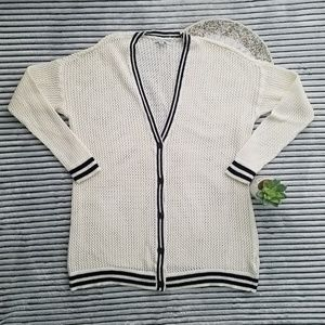 American Eagle Varsity Style Button Front Cardigan